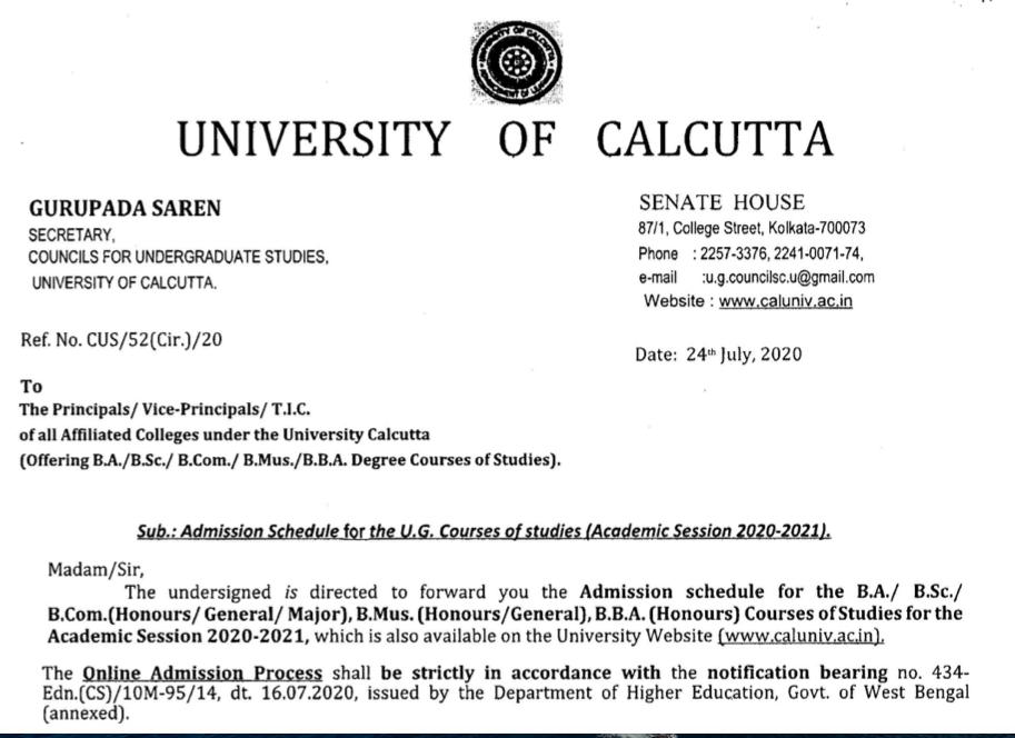 charuchandra college admission  merit list 2020 notice download