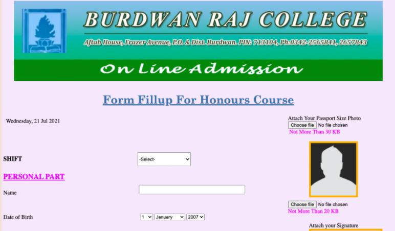 Burdwan Raj College Admission Merit List 2021-22, Burdwan Raj College Merit List 2021 (Live) ; Admission Provisional List of B.A B.Sc B.Com | burdwanrajcollege.ac.in